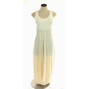 4/25 Chalet Bamboo Lagenlook Midi Dress Striped